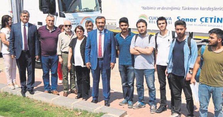 Türkmenlere yardım eli Çukurova'dan uzandı