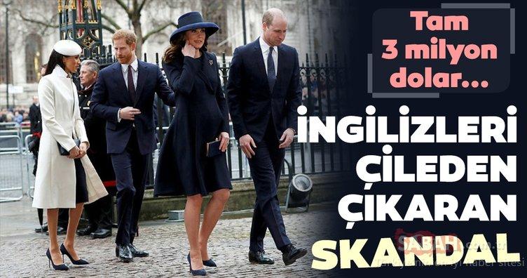 İngiliz Kraliyet Ailesi halkı çileden çıkardı! Meghan Markle tam 3 milyon doları..