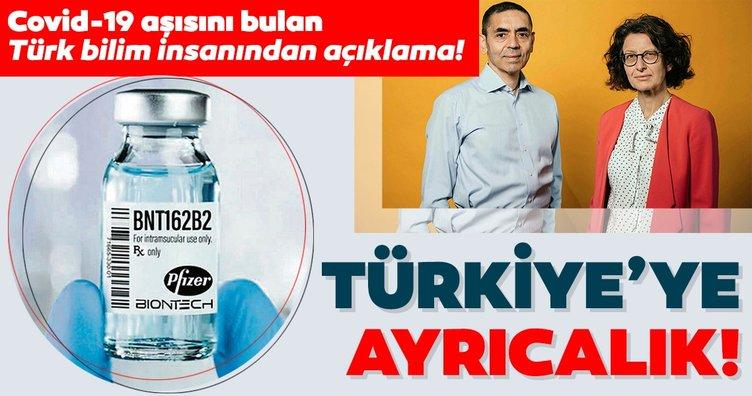 Prof. Dr. Uğur Şahin'in bulduğu corona virüs aşısı işe ilgili son dakika gelişme! Corona virüs aşısında Türkiye'ye ayrıcalık...