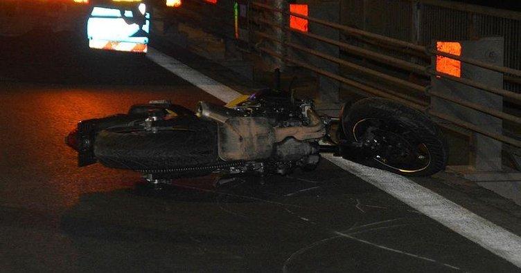Tek teker giderken kaza yapan motosikletli hayatını kaybetti