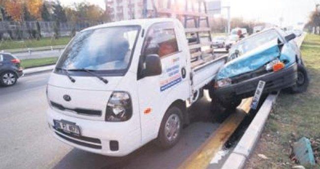 Altındağ'da trafik kazası: 2 yaralı