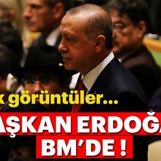 Son Dakika: Başkan Erdoğan BM'de