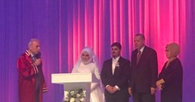 Başkanı Erdoğan, Mahir Ünal'ın kızının nikahına katıldı