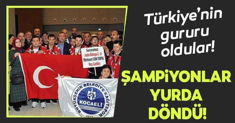 Türkiye'nin gururları! Down Sendromlular Dünya Judo Şampiyonları yurda döndü