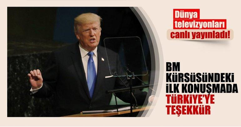 Trump ilk kez BM kürsüsünde konuştu!