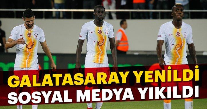 Galatasaray yenildi, sosyal medya yıkıldı