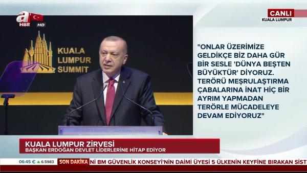 Cumhurbaşkanı Erdoğan'dan Kuala Lumpur Zirvesi'nde önemli açıklamalar