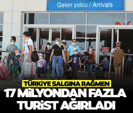 Türkiye salgına rağmen 17 milyondan fazla turist ağırladı