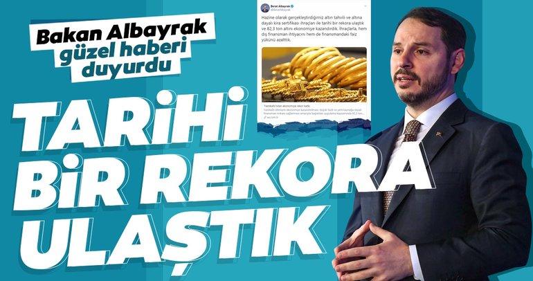 Bakan Albayrak'tan altın tahvili mesajı: Tarihi bir rekora ulaştık