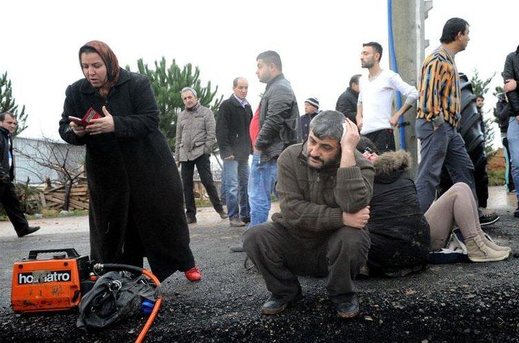 Uşak'ta işçi servisi devrildi