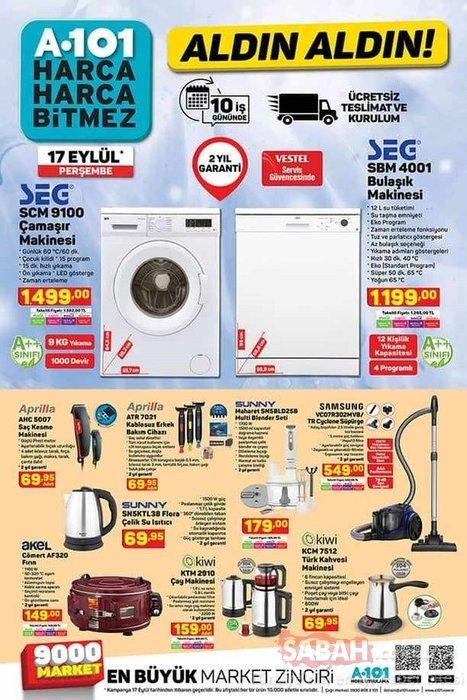 A101 aktüel ürünler kataloğu 17 Eylül yayınlandı! Yeni haftaya ait A101 aktüel ürünler listesi ile indirimli alışverişler!