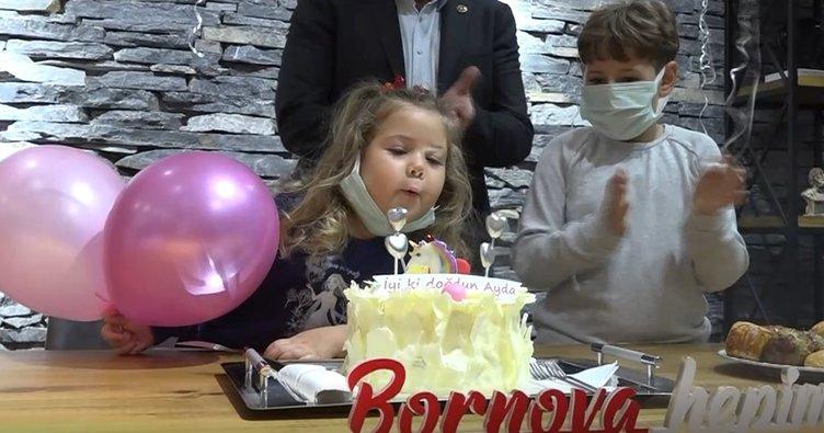Depremden 91 saat sonra kurtarılan Ayda bebeğe doğum günü sürprizi