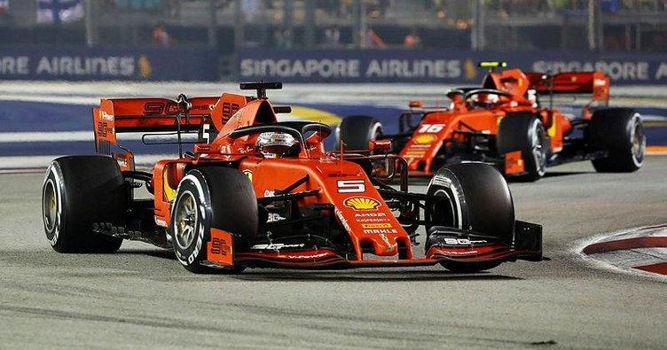 Formula 1 Singapur GP'sinde zafer Sebastian Vettel'in