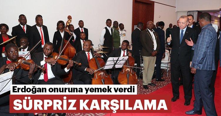 Erdoğan, Edgar Lungu tarafından onuruna verilen resmi yemeğe katıldı