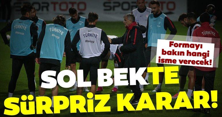 Şenol Güneş'den sürpriz sol bek kararı! Türkiye - Arnavutluk muhtemel 11'ler...