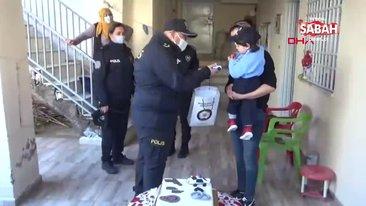 Mardin'de 3 yaşındaki Mert'in polis üniforması hayali gerçek oldu | Video