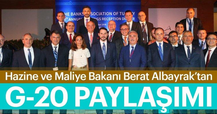 Son dakika: Bakan Berat Albayrak'tan G-20 paylaşımı