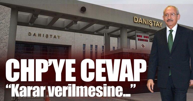 Danıştay'dan CHP'ye ret!