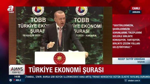 Son dakika: Cumhurbaşkanı Erdoğan'danTOBBEkonomi Şurası'nda önemli açıklamalar | Video