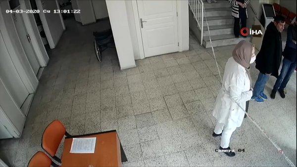İzmir'de corona virüsüyle mücadele eden hemşireye saldırı anının şok görüntüleri ortaya çıktı! | Video