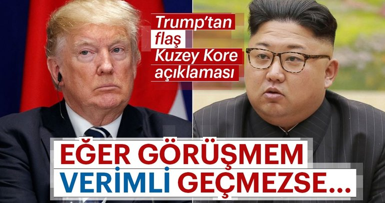 Trump, Kuzey Kore lideri ile başarılı bir zirve umuyorum ama...