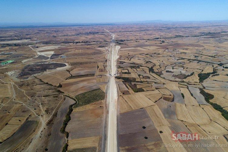 O yol 1 saat 20 dakikaya düşecek! Dev proje havadan görüntülendi...