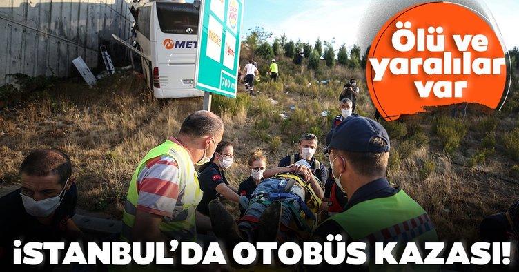 Son dakika: Sarıyer Kuzey Marmara Otoyolu'nda otobüs yoldan çıktı! Ölü ve yaralılar var