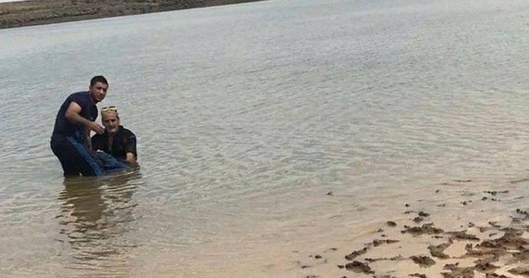 Atıyla girdiği gölette düşüp, boğuldu