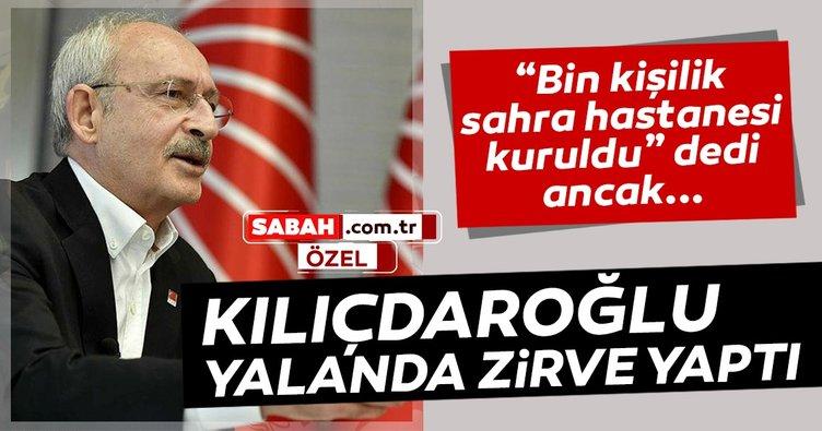 Kılıçdaroğlu yalanda zirve yaptı! Zeydan Karalar, bin kişilik sahra hastanesi kurdu dedi...