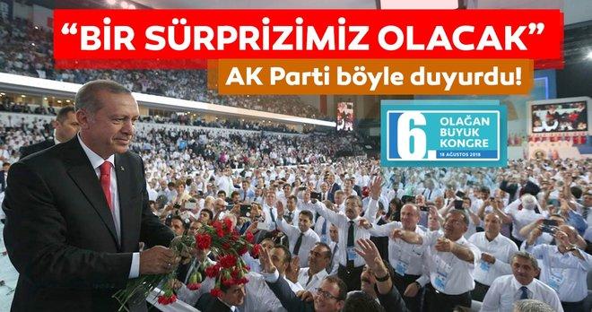 AK Parti böyle duyurdu: â??Yarın bir sürprizimiz olacakâ?¦â??