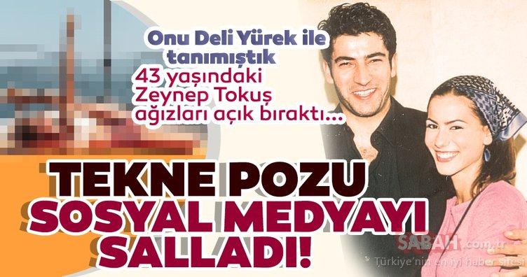 Deli Yürek ile hafızalara kazınan Zeynep Tokuş tekne pozu ile sosyal medyayı salladı! 43 yaşındaki Zeynep Tokuş yaptığı hareket ile ağızları açık bıraktı...