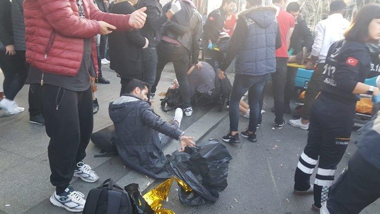 Beşiktaş'ta otobüs durağa daldı; yaralılar var