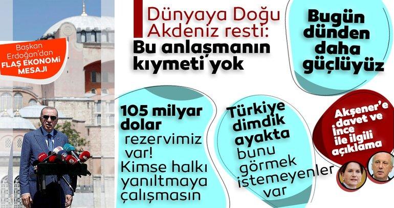 Son dakika: Başkan Erdoğan'dan çok net ekonomi mesajı: Türkiye dimdik ayakta! Kimse halkımızı yanıltmaya kalkmasın...