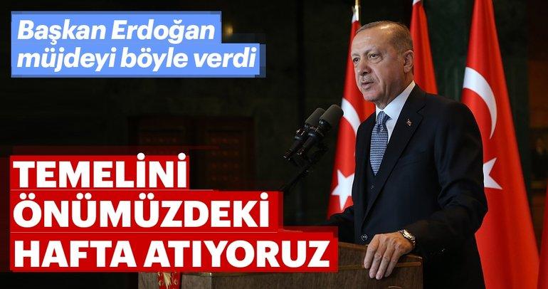 Son dakika haberi... Başkan Erdoğan müjdeyi böyle verdi