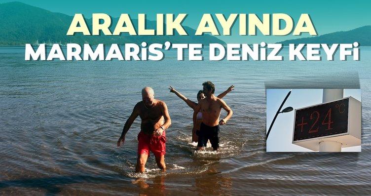 Aralık ayında Marmaris'te deniz keyfi