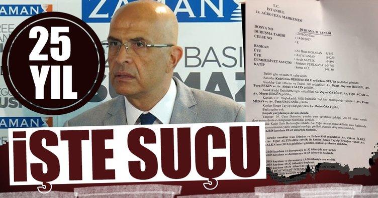 İşte Enis Berberoğlu'nun ceza aldığı suç kapsamı!