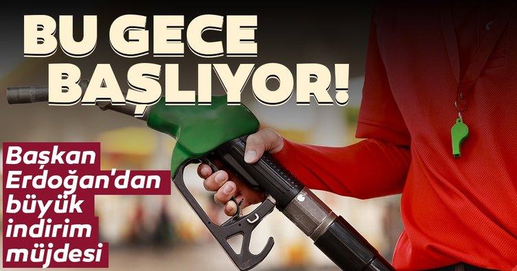 Son dakika haberi | Başkan Erdoğan müjdeyi verdi! Benzinde 60, motorinde 55 kuruş indirim
