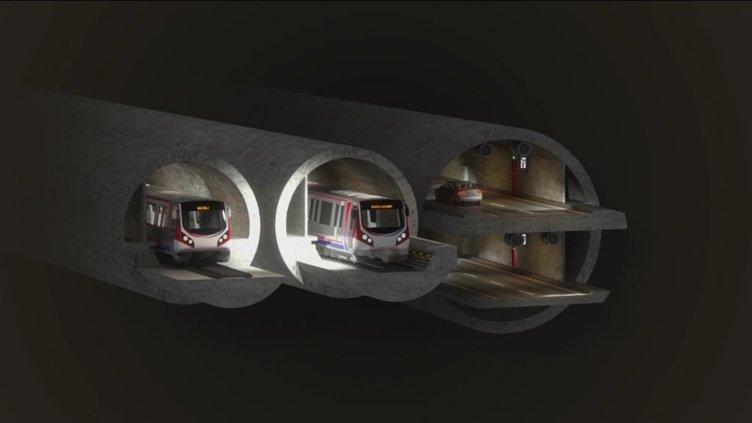 3 Katlı Büyük İstanbul Tüneli Projesi.