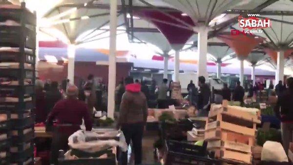 Pazarda silahlı kavgaya 4 gözaltı: Esnafın çektiği görüntüler ortaya çıktı | Video