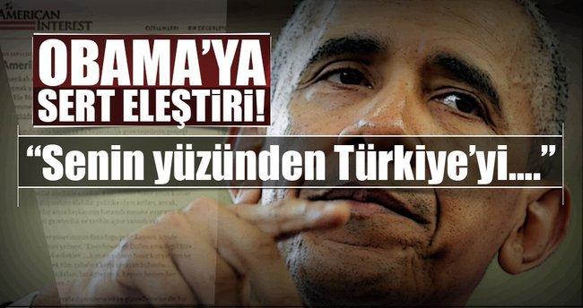 Obama'ya Türkiye eleştirisi