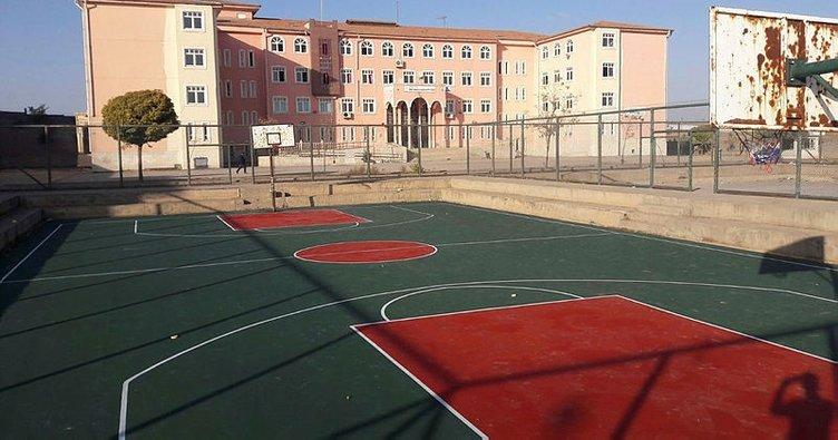 Bismil Belediyesinden okullara basketbol sahası