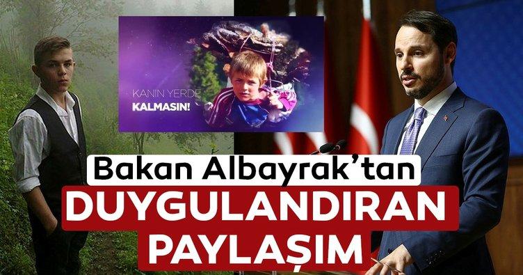 Hazine ve Maliye Bakanı Berat Albayrak'tan Eren Bülbül paylaşımı
