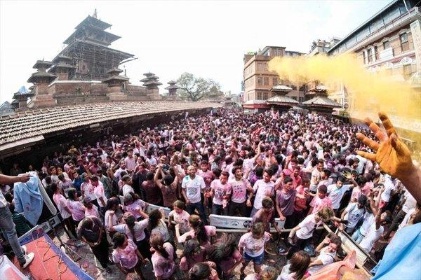 Nepal'de Holi festivali