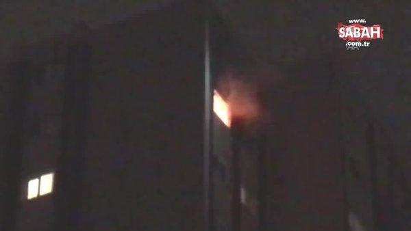 Ataşehir'de koli bandıyla bağladığı sevgilisinin evini yaktı | Video