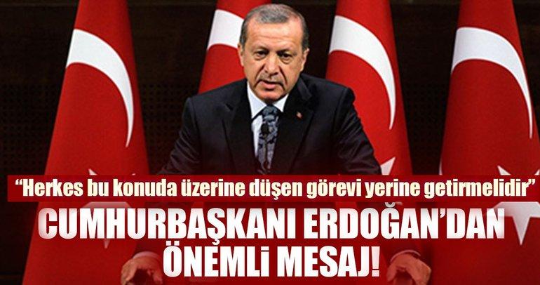 Cumhurbaşkanı Erdoğan, 2017-2018 Adli yıl açılışı münasebetiyle mesaj yayınladı