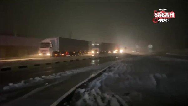 Son dakika: Edirne'de kar yağışı başladı | Video
