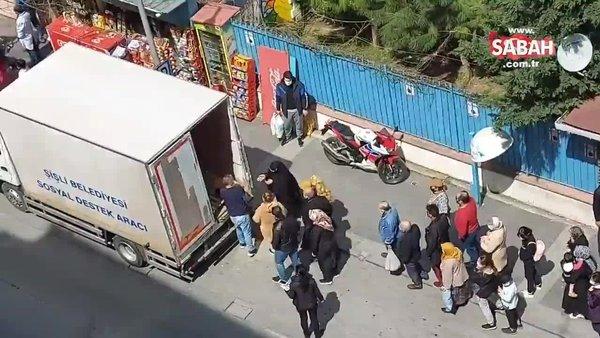 Başkan Erdoğan'ı eleştiren CHP'li belediyenin patates dağıttığı görüntüler ortaya çıktı