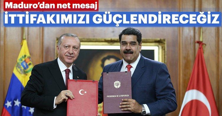 Maduro canlı yayında Erdoğan'a mesaj gönderdi: İttifakımızı güçlendireceğiz