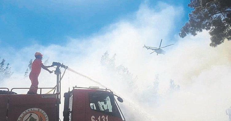 Manavgat'ta yangın paniği yaşandı