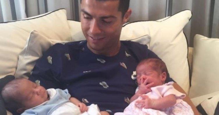 İşte Cristiano Ronaldo'nun ikizleri
